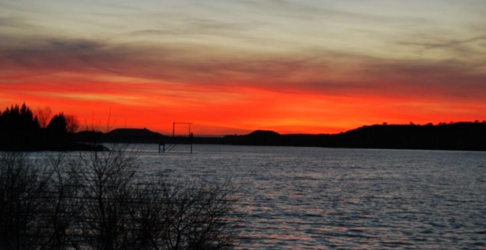 sunset Caspe